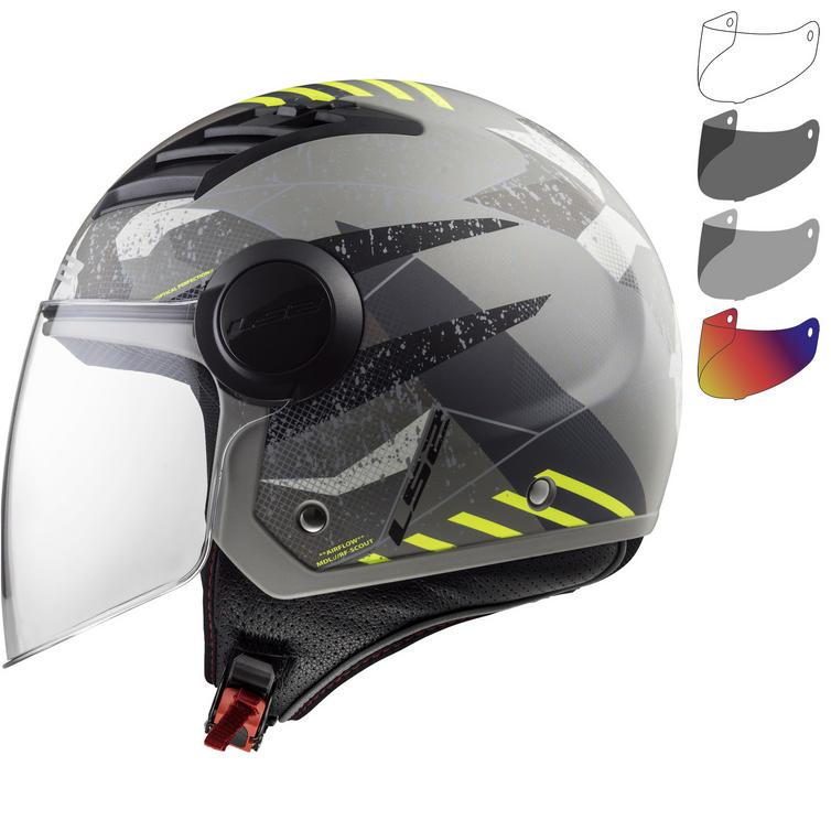 LS2 OF562 Airflow L Camo Open Face Motorcycle Helmet & Visor