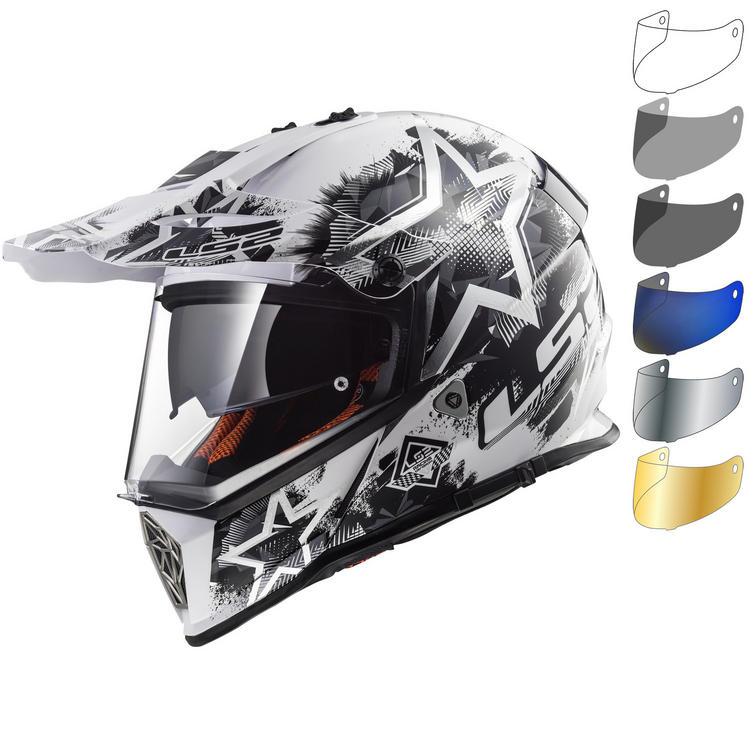 LS2 MX436 Pioneer Chaos Dual Sport Helmet & Visor