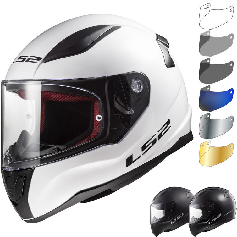 LS2 FF353J Rapid Mini Solid Youth Motorcycle Helmet & Visor