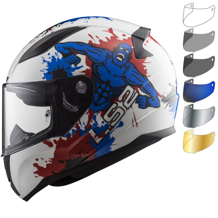 LS2 FF353J Rapid Mini Monster Youth Motorcycle Helmet & Visor