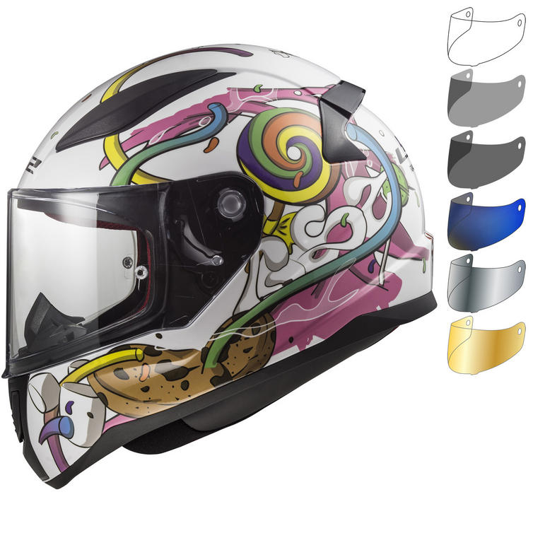 LS2 FF353J Rapid Mini Crazy Pop Youth Motorcycle Helmet & Visor