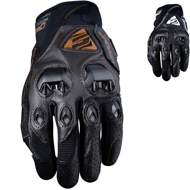 Five Stunt Evo Leather Motorcycle Gloves