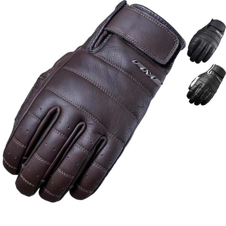 Five California Leather Motorcycle Gloves