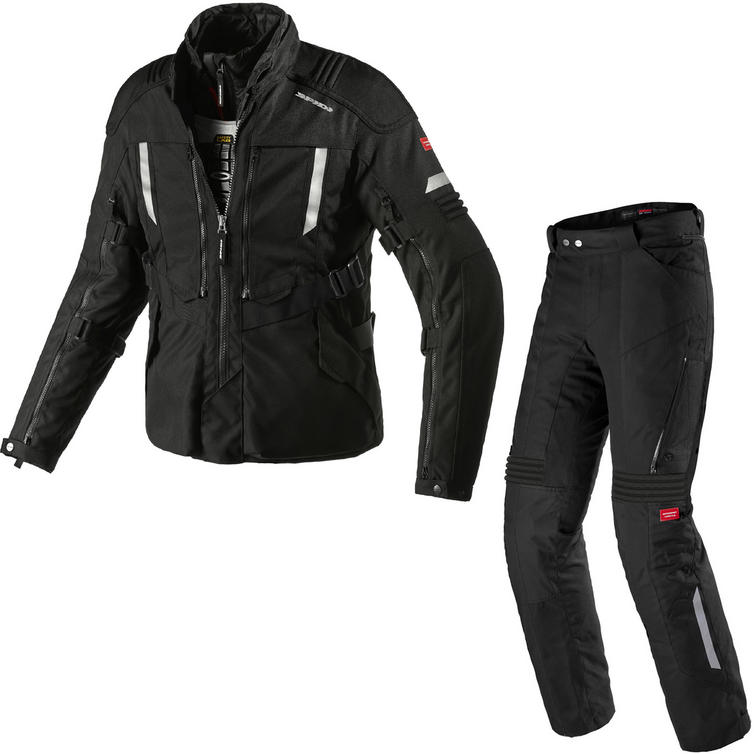 Spidi Modular H2OUT Motorcycle Jacket & Trousers Black Kit