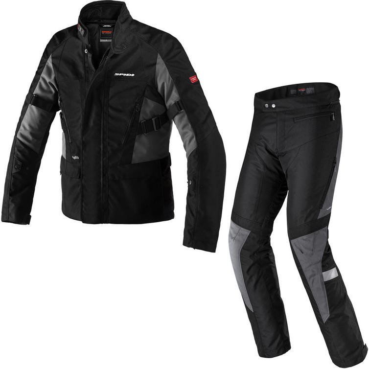Spidi Traveler 2 H2OUT Motorcycle Jacket & Trousers Black Grey Kit