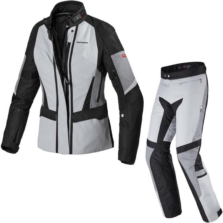 Spidi Traveler 2 H2OUT Ladies Motorcycle Jacket & Trousers Ice Black Kit