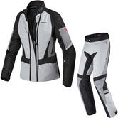 Spidi Traveler 2 H2OUT Ladies Motorcycle Jacket & Trousers Ice Black Kit
