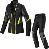 Spidi Traveler 2 H2OUT Ladies Motorcycle Jacket & Trousers Black Fluo Yellow Kit