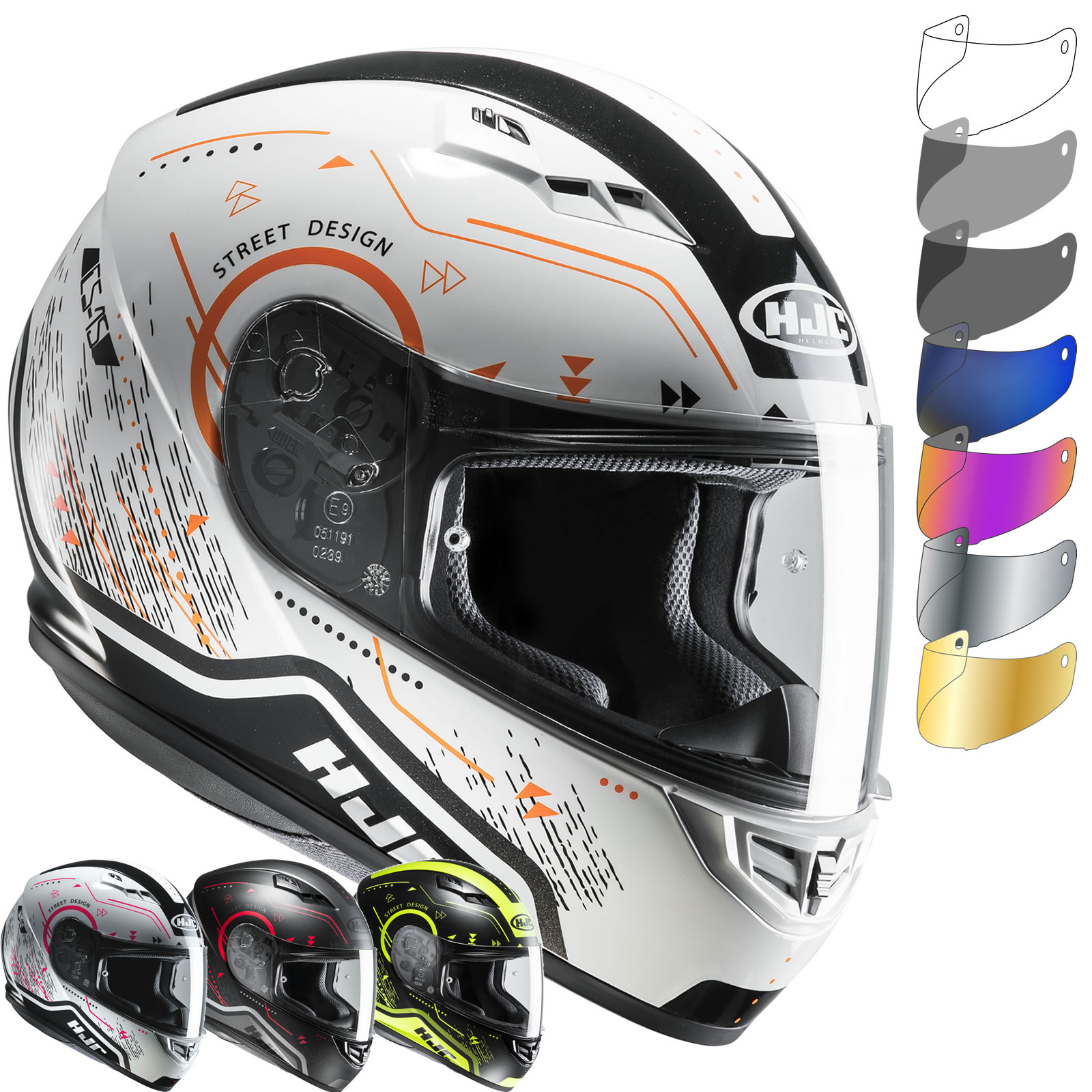 HJC CS 15 Safa Motorcycle Helmet & Visor New Arrivals Ghostbikes