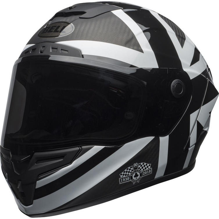 Bell Race Star Ace Cafe Blackjack Motorcycle Helmet
