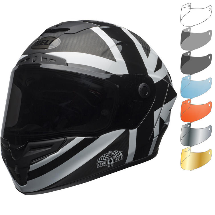 Bell Race Star Ace Cafe Blackjack Motorcycle Helmet & Visor