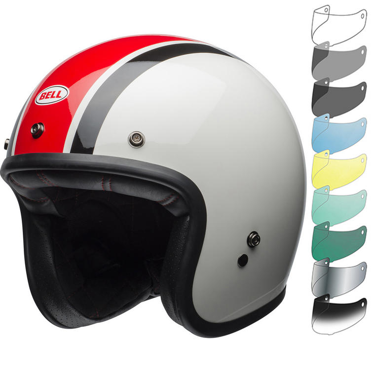 Bell Custom 500 SE Ace Cafe Stadium Deluxe Open Face Motorcycle Helmet & Visor