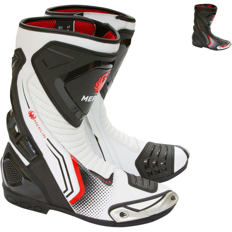 Merlin Phantom Sports Leather Motorcycle Boots