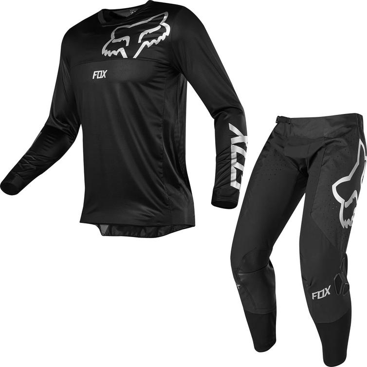 Fox Racing Airline Motocross Jersey & Pants Black Kit
