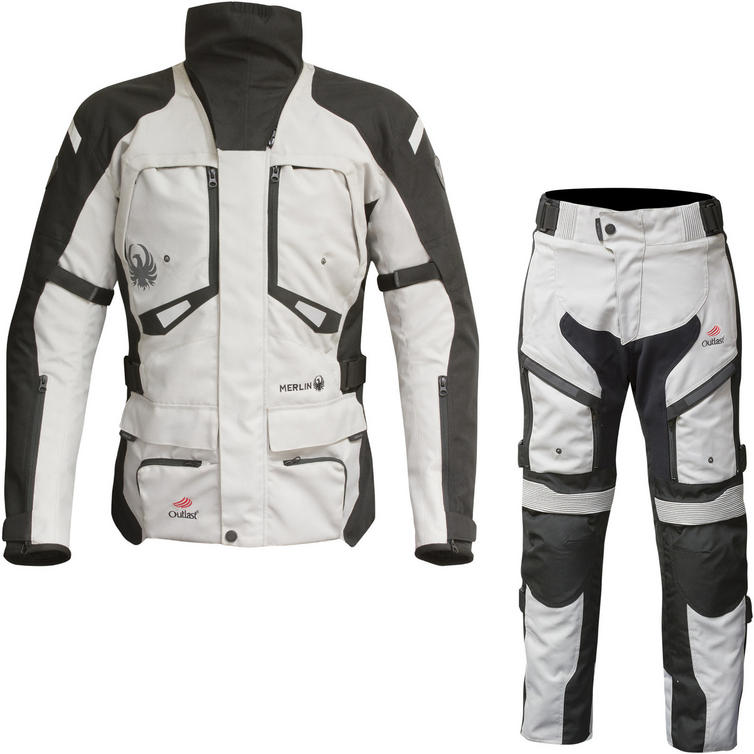 Merlin Horizon Outlast 3-in-1 Airbag Ready Motorcycle Jacket & Trousers Black Ice Kit