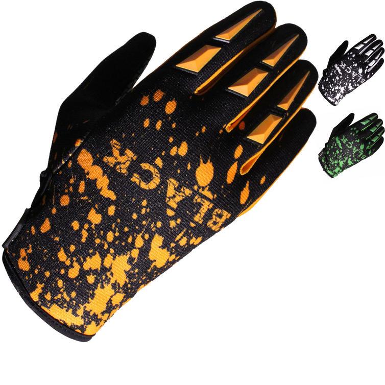 Black Splat Motocross Gloves