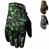 Black Splat Motocross Gloves