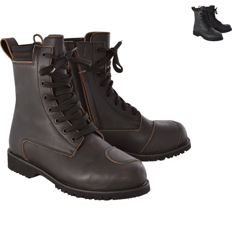 Oxford Magdalen Ladies Leather Motorcycle Boots