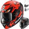 Shark Spartan Lorenzo Austrian GP Replica Motorcycle Helmet & Visor Thumbnail 1