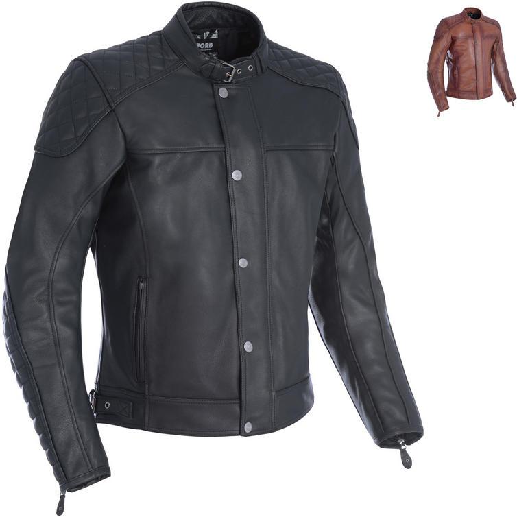Oxford Hampton Leather Motorcycle Jacket