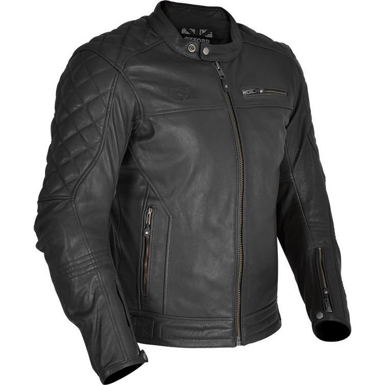 Oxford Route 73 Leather Motorcycle Jacket