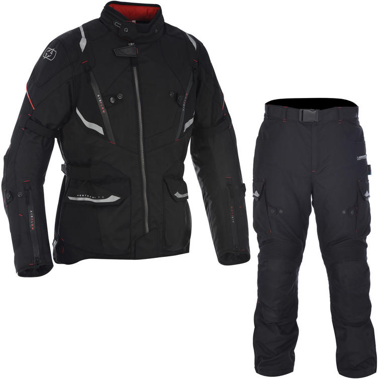 Oxford Montreal 3.0 Jacket & Montreal 2.0 Trousers Motorcycle Tech Black Kit