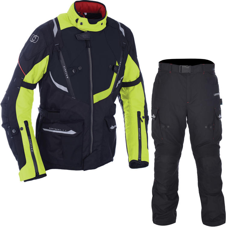 Oxford Montreal 3.0 Jacket & Montreal 2.0 Trousers Motorcycle Fluo Black Kit