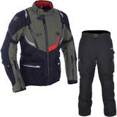 Oxford Montreal 3.0 Jacket & Montreal 2.0 Trousers Motorcycle Green Black Kit