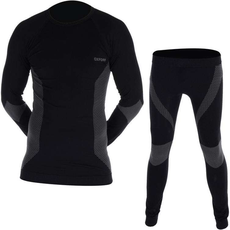 Oxford Base Layers Long Sleeve Top & Trousers Black Kit