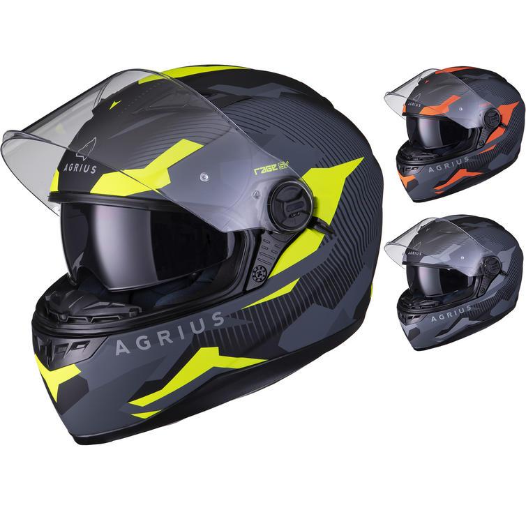 Agrius Rage SV Tracker  Motorcycle Helmet (Pinlock Ready)