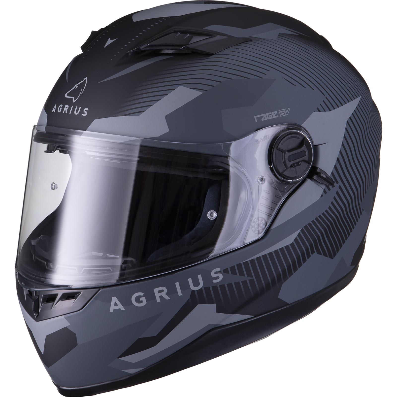 Agrius-Rage-SV-Tracker-Full-Face-Motorcycle-Matt-Helmet-bike-Road-Bike-Scooter thumbnail 13