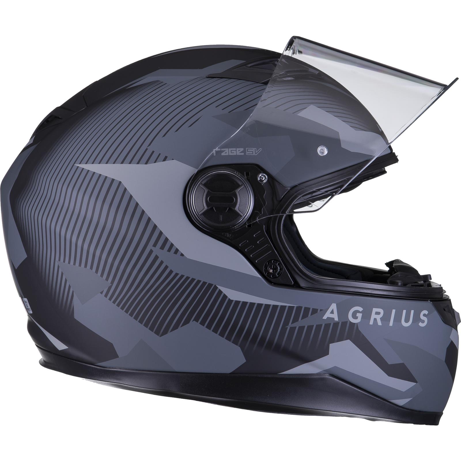 Agrius-Rage-SV-Tracker-Full-Face-Motorcycle-Matt-Helmet-bike-Road-Bike-Scooter thumbnail 22