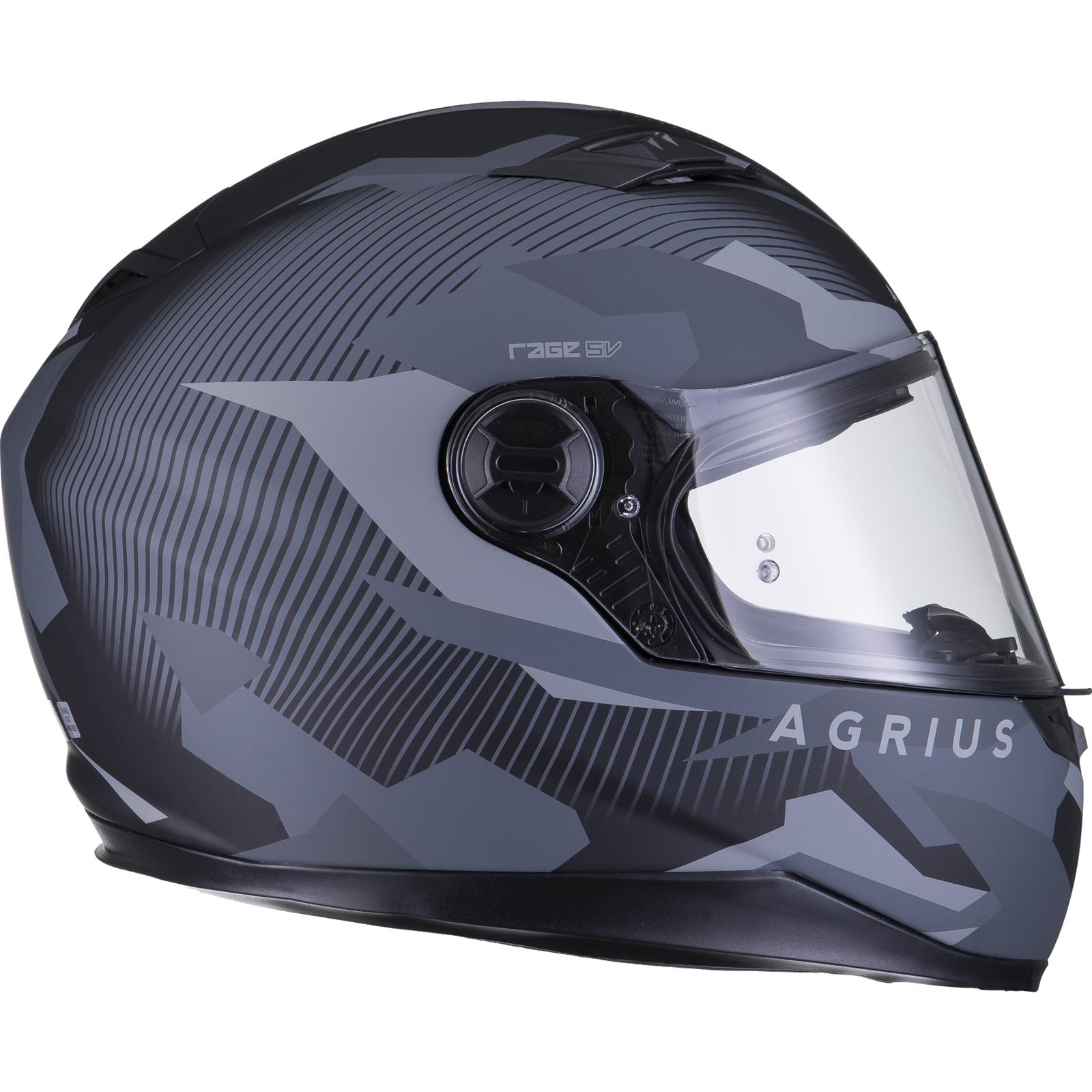 Agrius-Rage-SV-Tracker-Full-Face-Motorcycle-Matt-Helmet-bike-Road-Bike-Scooter thumbnail 23