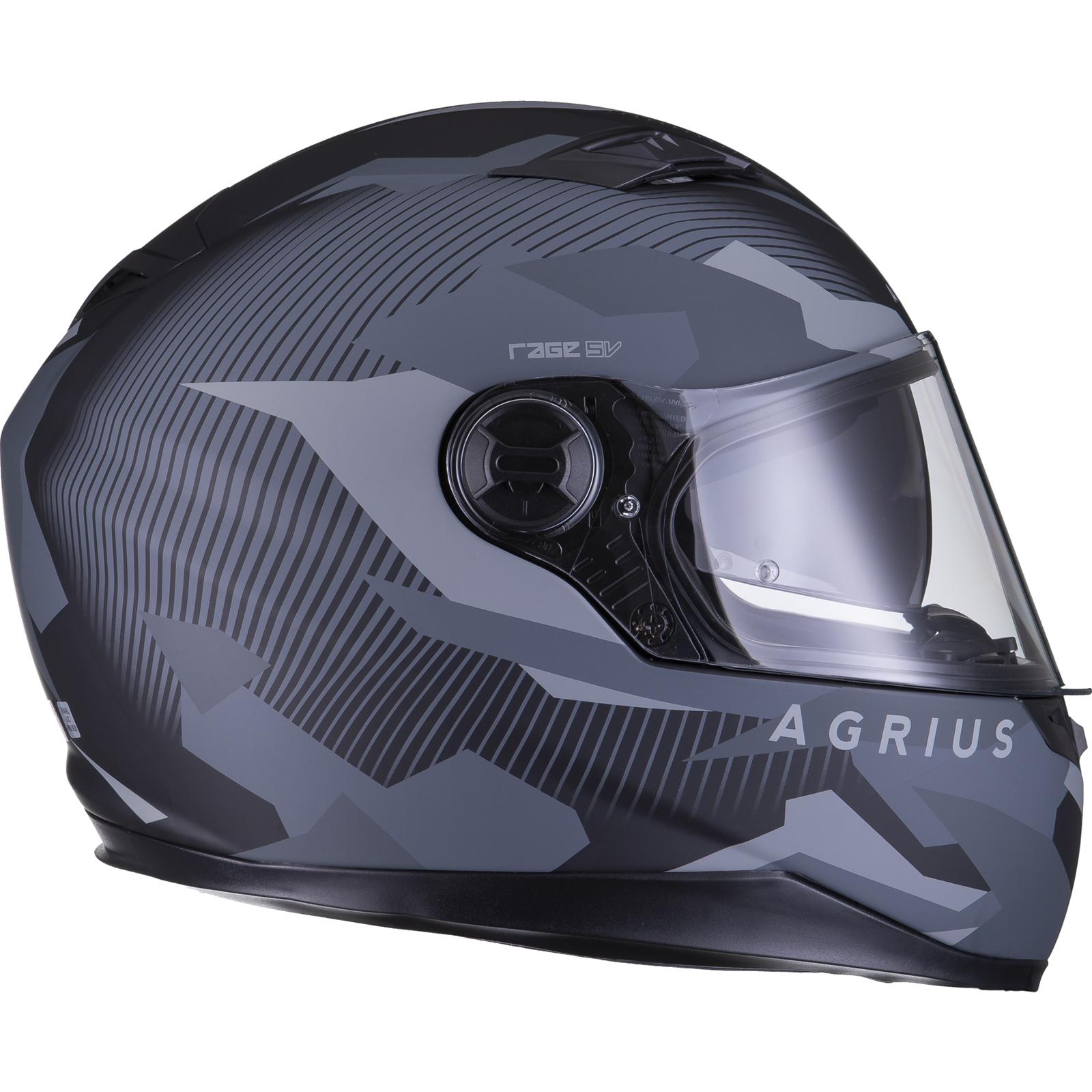 Agrius-Rage-SV-Tracker-Full-Face-Motorcycle-Matt-Helmet-bike-Road-Bike-Scooter thumbnail 24