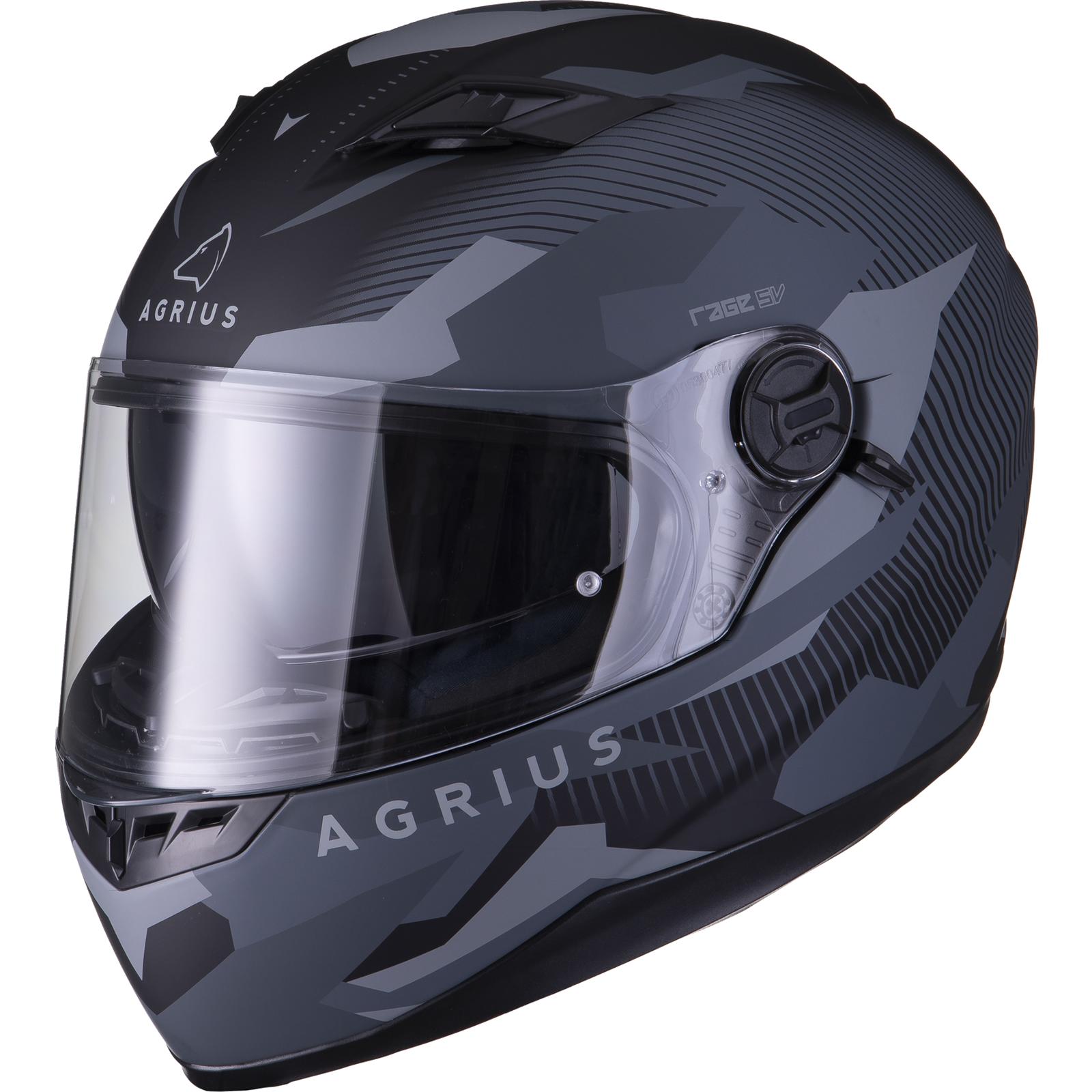 Agrius-Rage-SV-Tracker-Full-Face-Motorcycle-Matt-Helmet-bike-Road-Bike-Scooter thumbnail 14