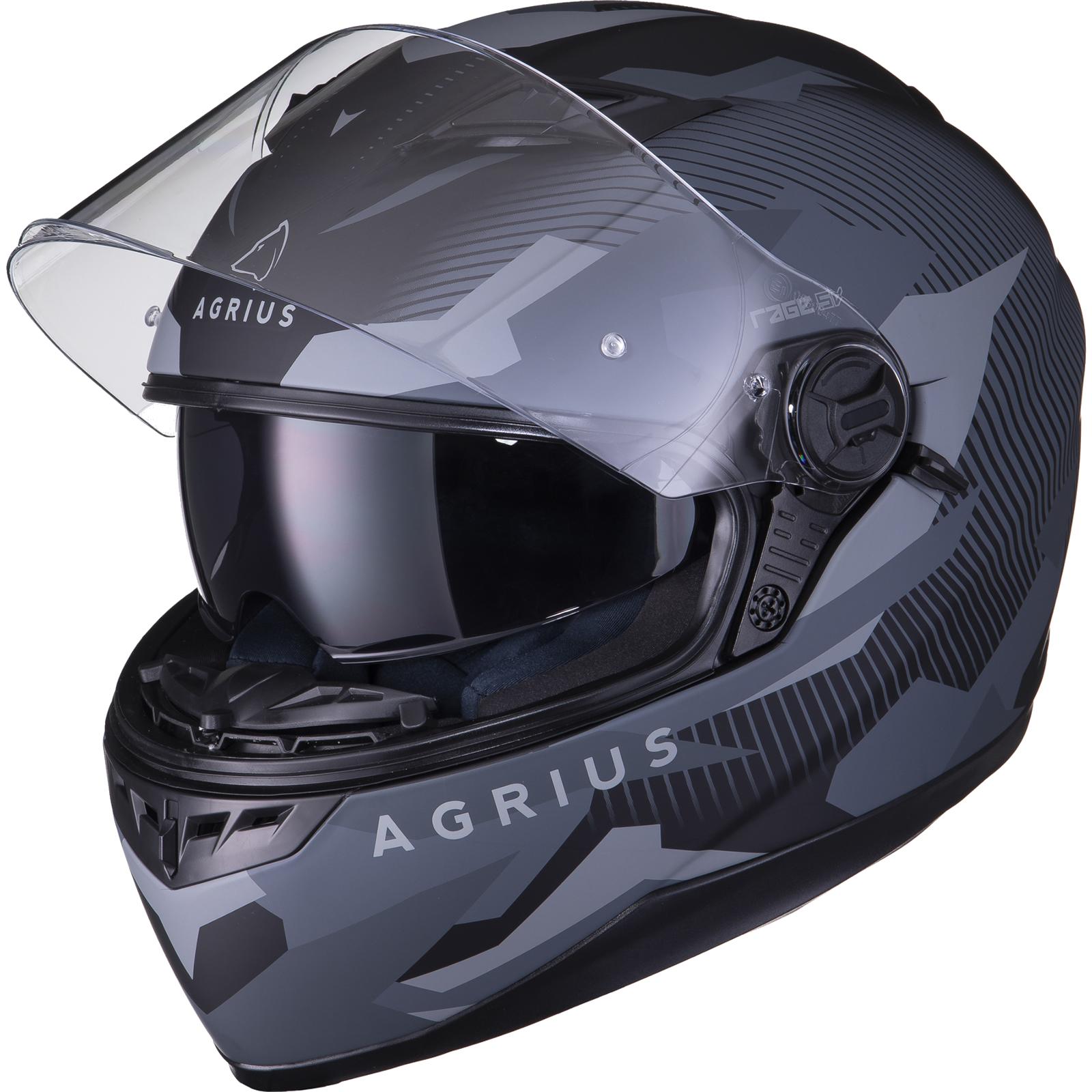 Agrius-Rage-SV-Tracker-Full-Face-Motorcycle-Matt-Helmet-bike-Road-Bike-Scooter thumbnail 15