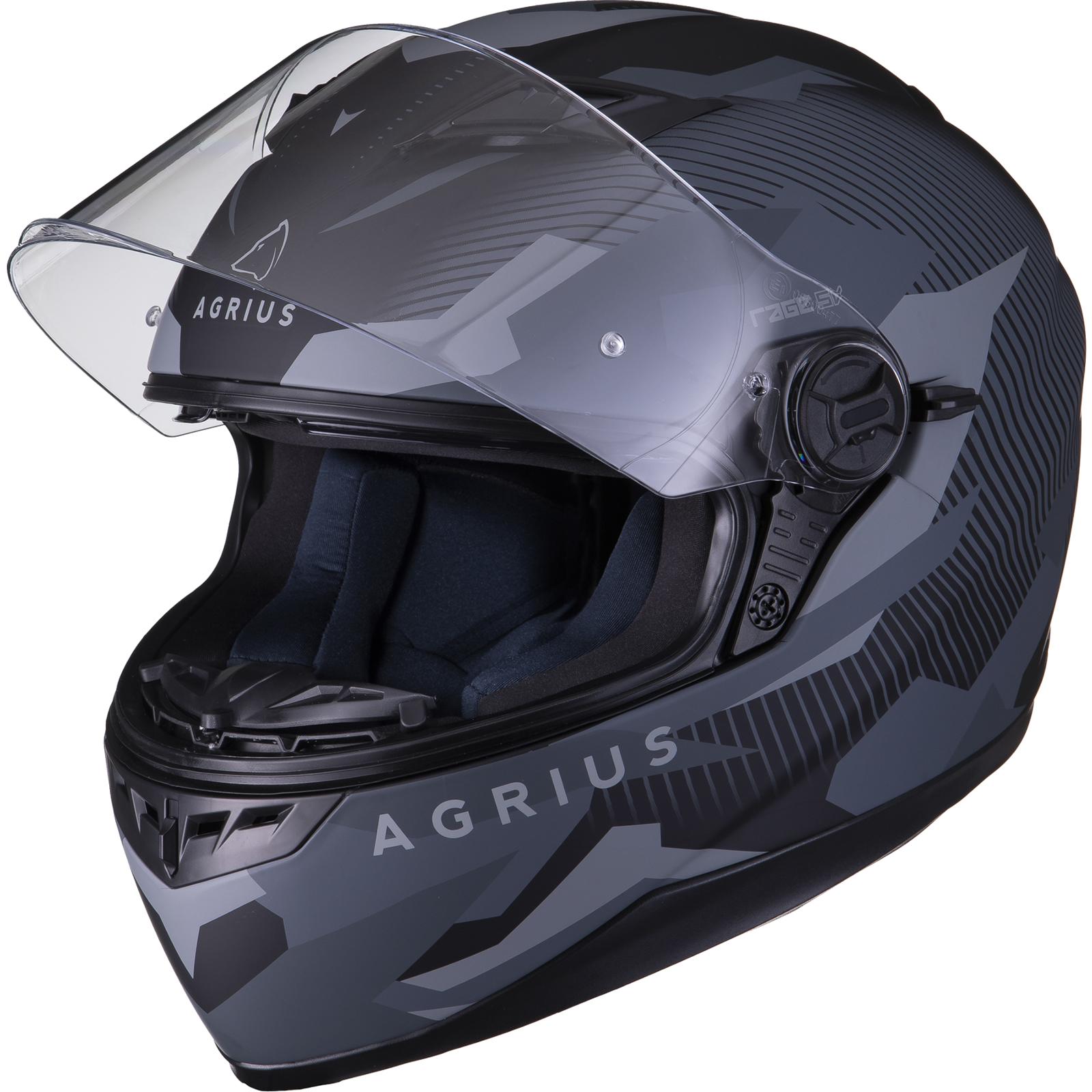 Agrius-Rage-SV-Tracker-Full-Face-Motorcycle-Matt-Helmet-bike-Road-Bike-Scooter thumbnail 16