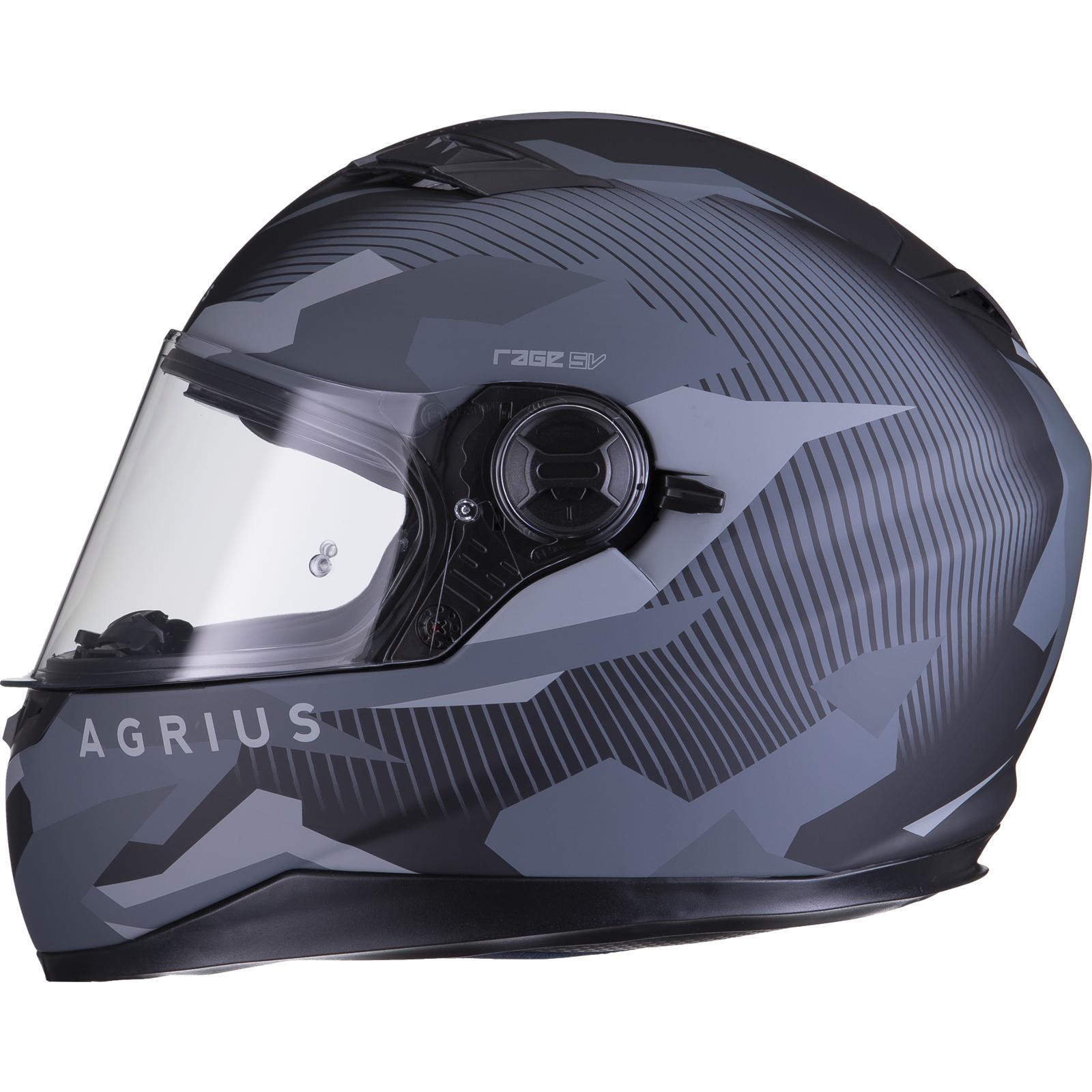Agrius-Rage-SV-Tracker-Full-Face-Motorcycle-Matt-Helmet-bike-Road-Bike-Scooter thumbnail 17