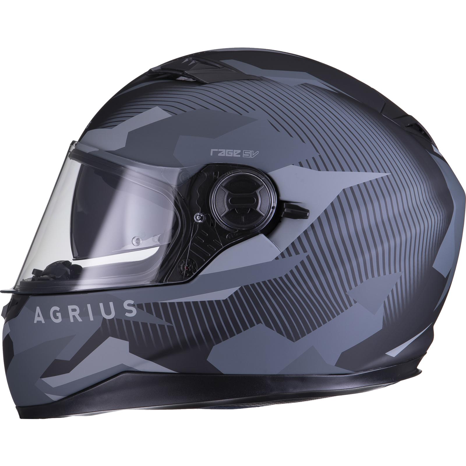 Agrius-Rage-SV-Tracker-Full-Face-Motorcycle-Matt-Helmet-bike-Road-Bike-Scooter thumbnail 18
