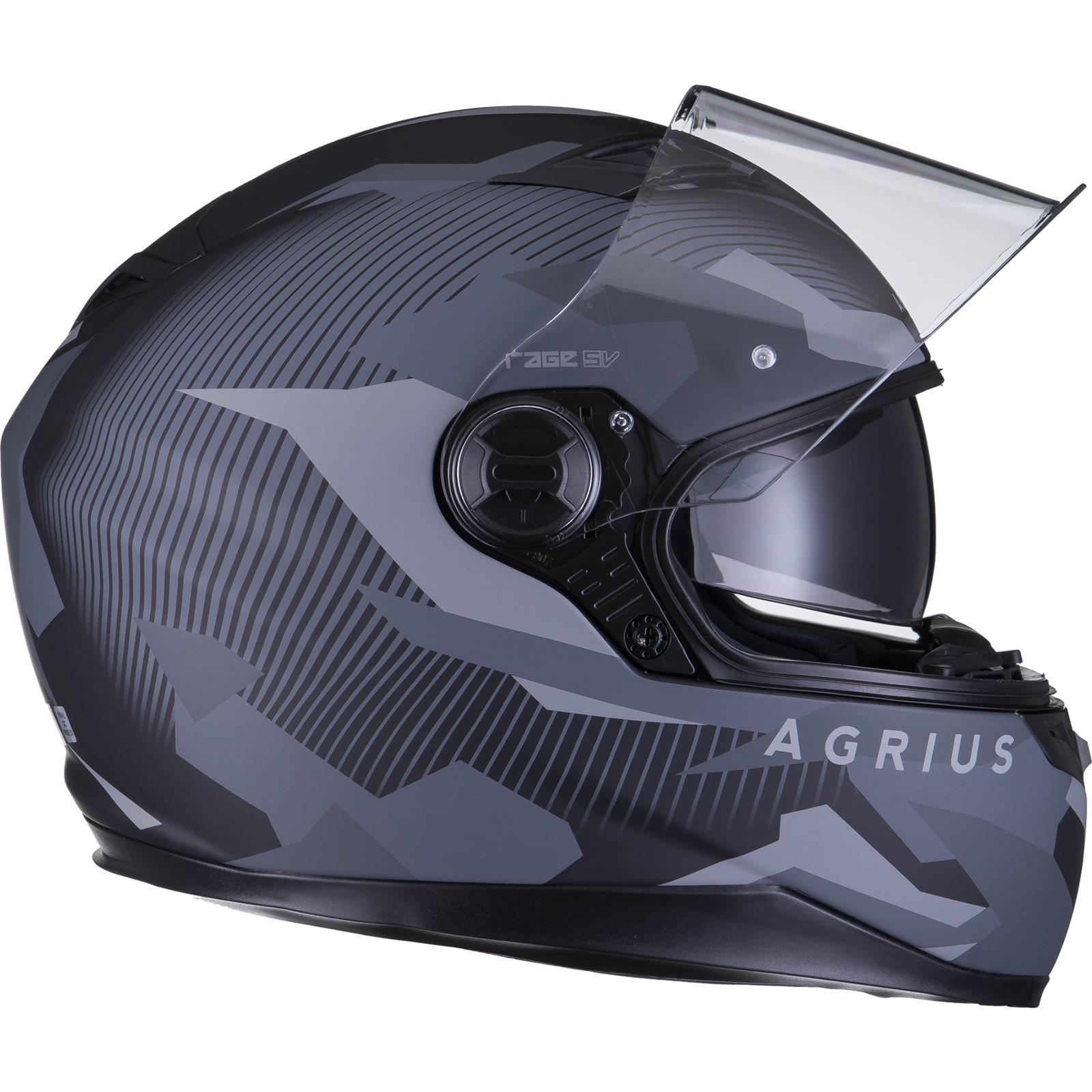 Agrius-Rage-SV-Tracker-Full-Face-Motorcycle-Matt-Helmet-bike-Road-Bike-Scooter thumbnail 21