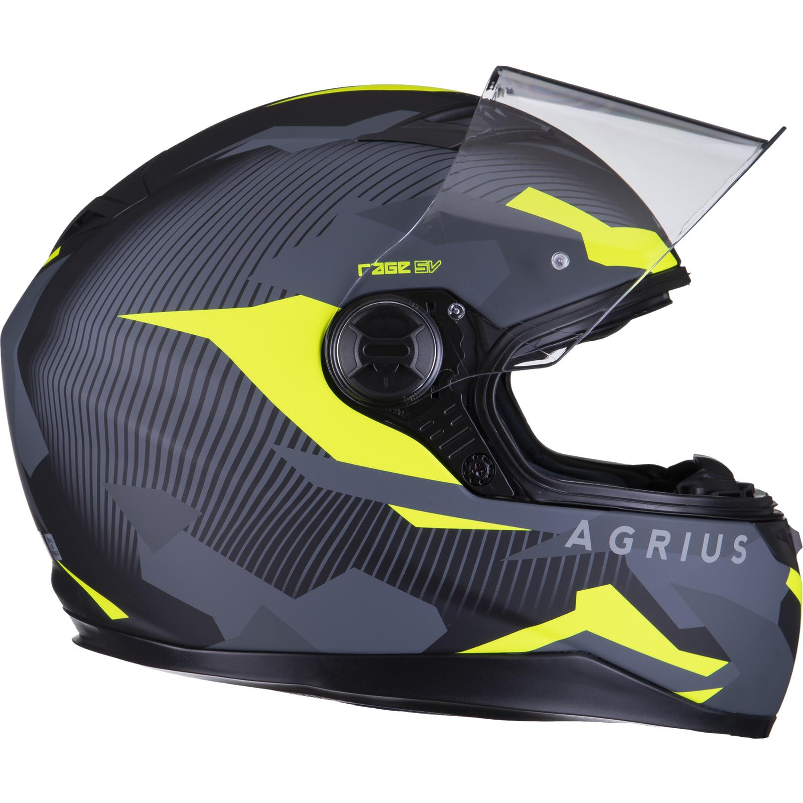 Agrius-Rage-SV-Tracker-Full-Face-Motorcycle-Matt-Helmet-bike-Road-Bike-Scooter thumbnail 46
