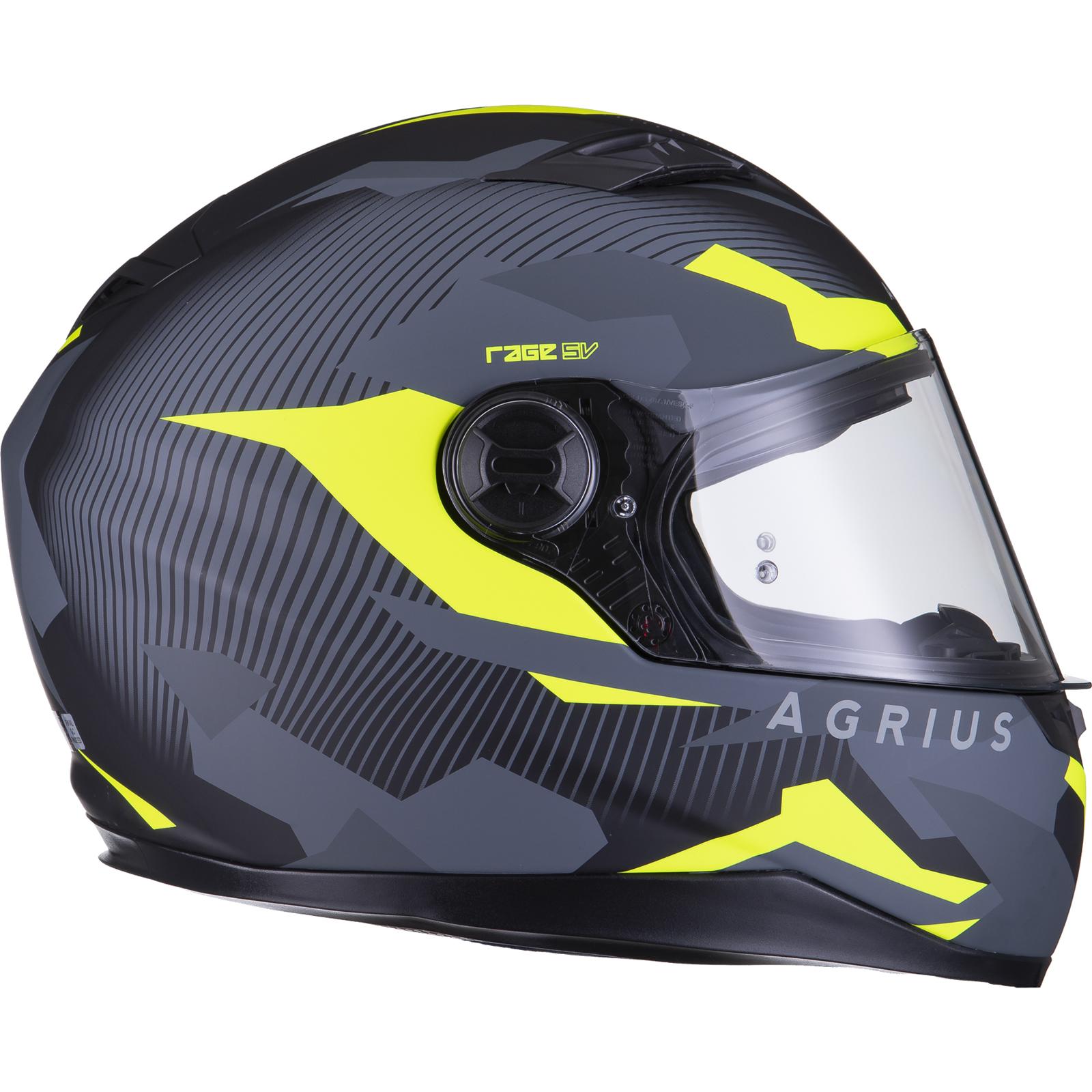 Agrius-Rage-SV-Tracker-Full-Face-Motorcycle-Matt-Helmet-bike-Road-Bike-Scooter thumbnail 47