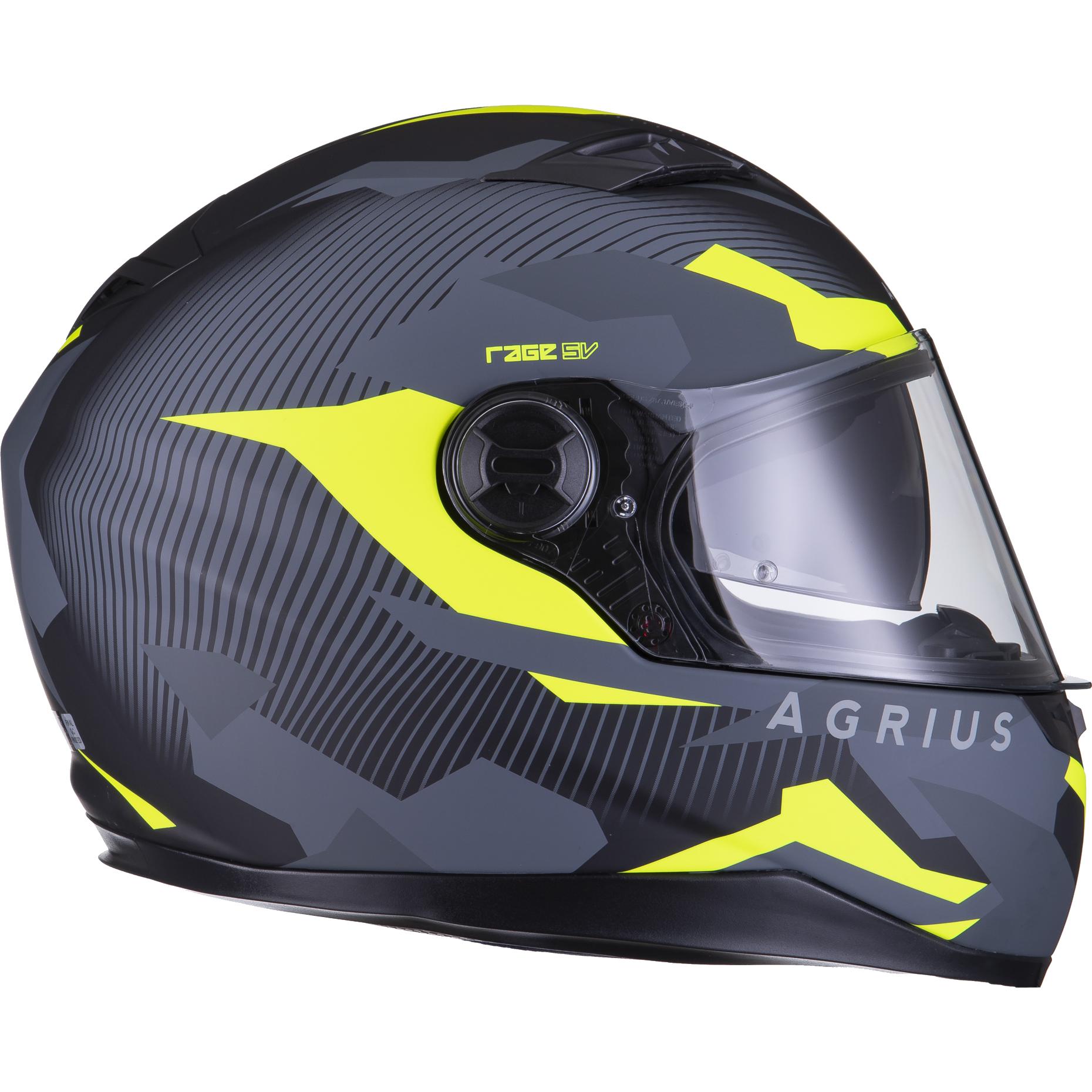 Agrius-Rage-SV-Tracker-Full-Face-Motorcycle-Matt-Helmet-bike-Road-Bike-Scooter thumbnail 48