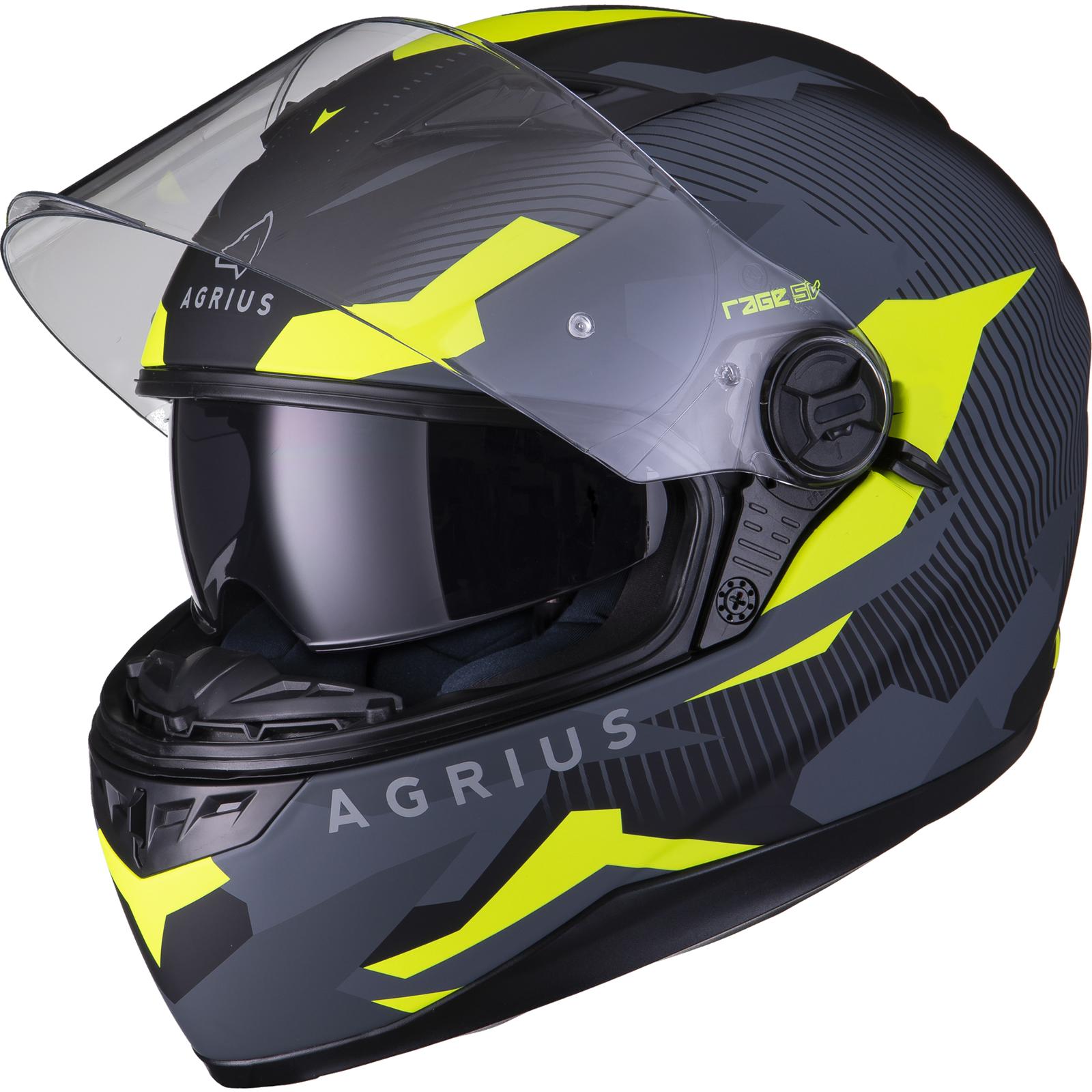 Agrius-Rage-SV-Tracker-Full-Face-Motorcycle-Matt-Helmet-bike-Road-Bike-Scooter thumbnail 38