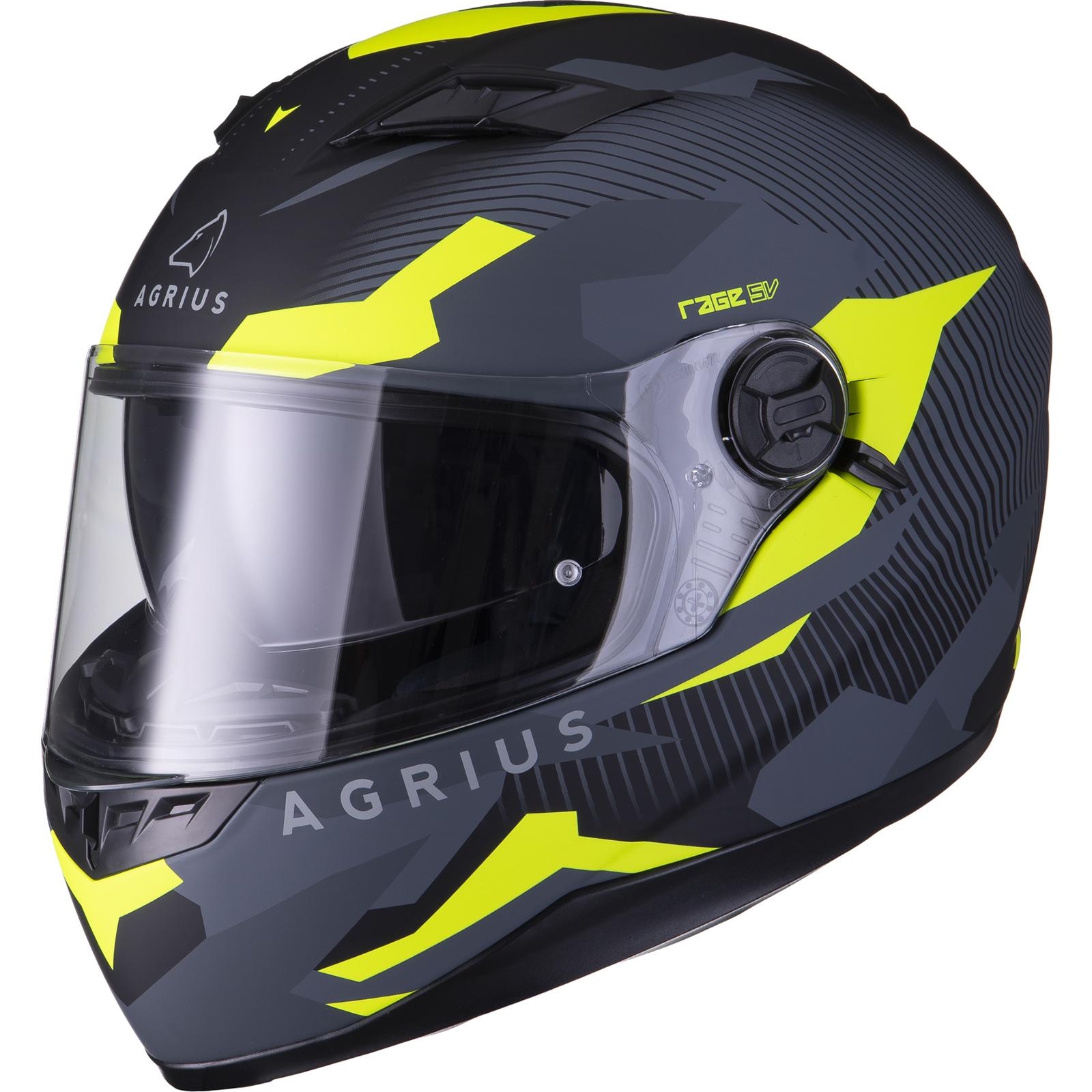 Agrius-Rage-SV-Tracker-Full-Face-Motorcycle-Matt-Helmet-bike-Road-Bike-Scooter thumbnail 39