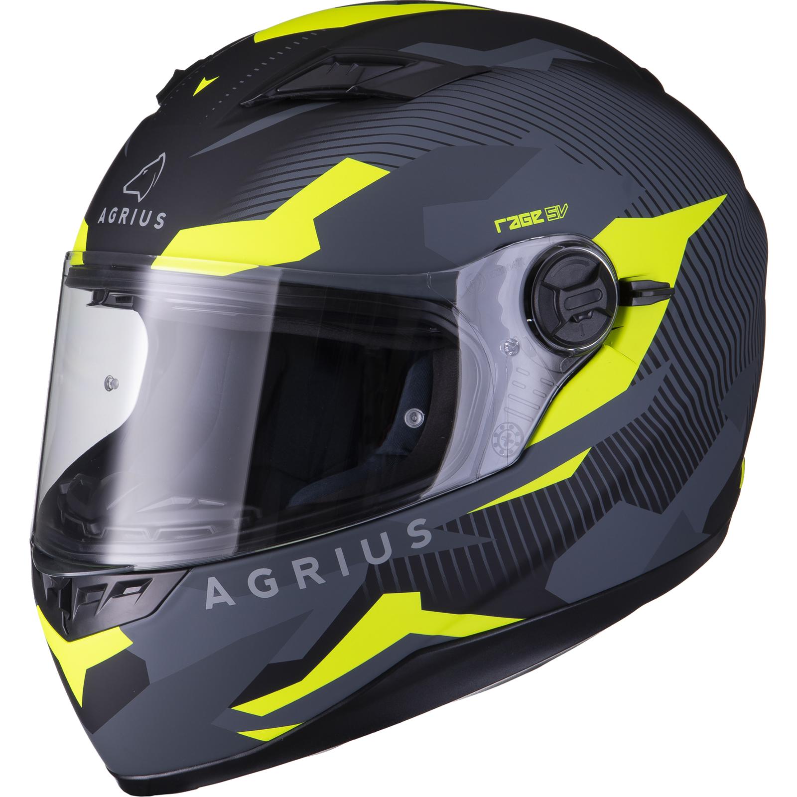Agrius-Rage-SV-Tracker-Full-Face-Motorcycle-Matt-Helmet-bike-Road-Bike-Scooter thumbnail 40