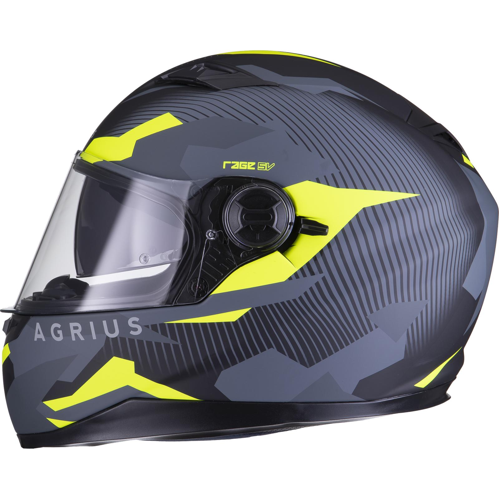 Agrius-Rage-SV-Tracker-Full-Face-Motorcycle-Matt-Helmet-bike-Road-Bike-Scooter thumbnail 41