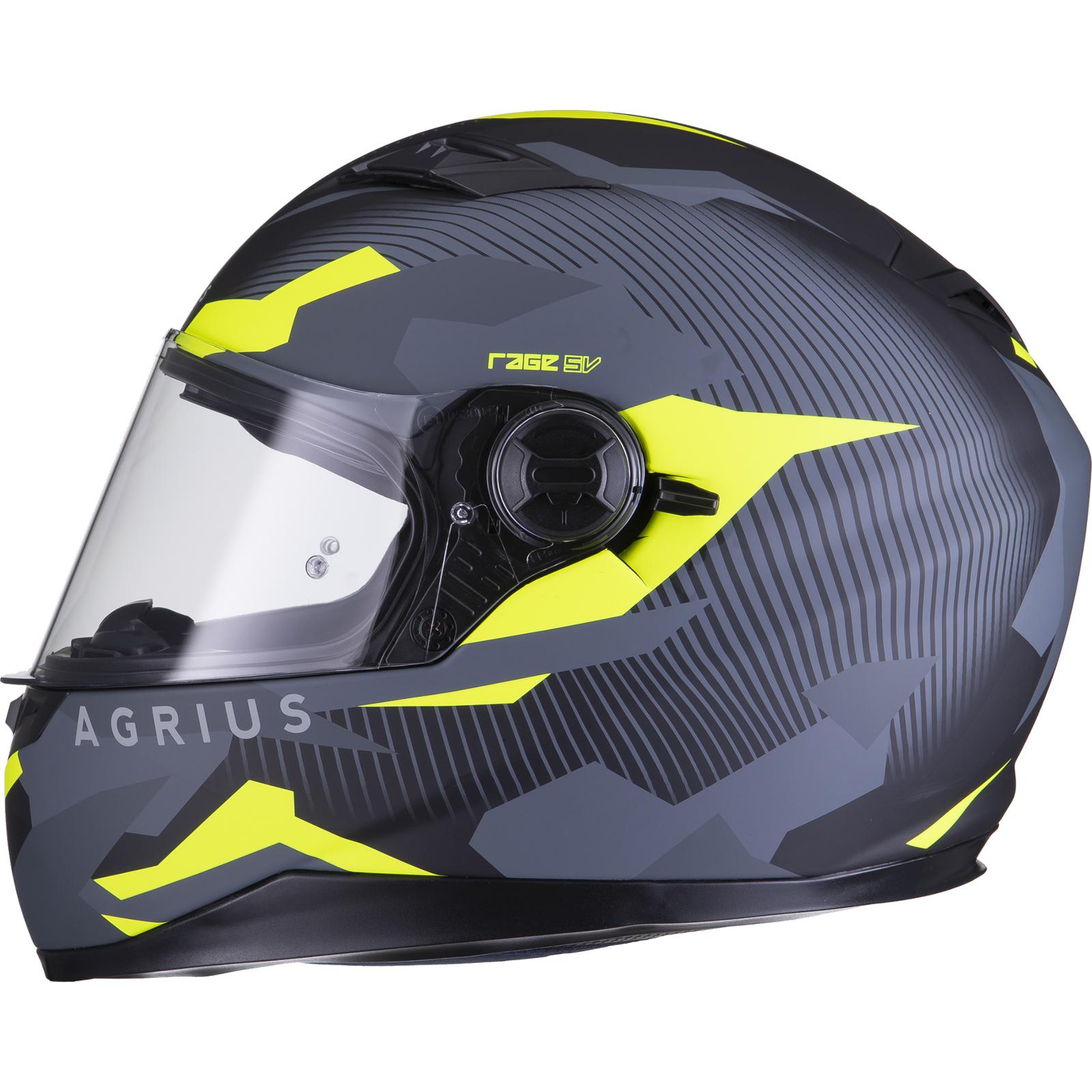 Agrius-Rage-SV-Tracker-Full-Face-Motorcycle-Matt-Helmet-bike-Road-Bike-Scooter thumbnail 42