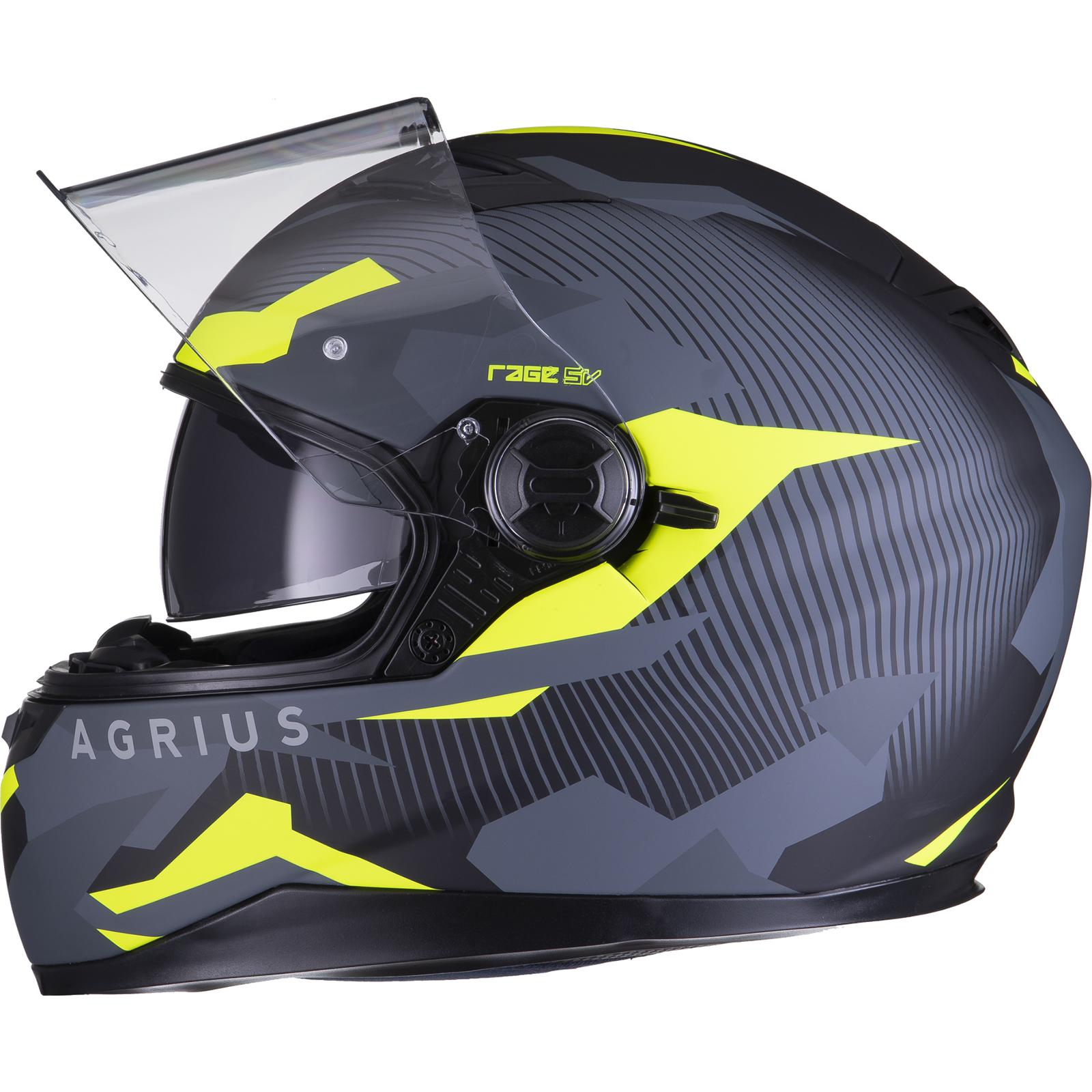 Agrius-Rage-SV-Tracker-Full-Face-Motorcycle-Matt-Helmet-bike-Road-Bike-Scooter thumbnail 44