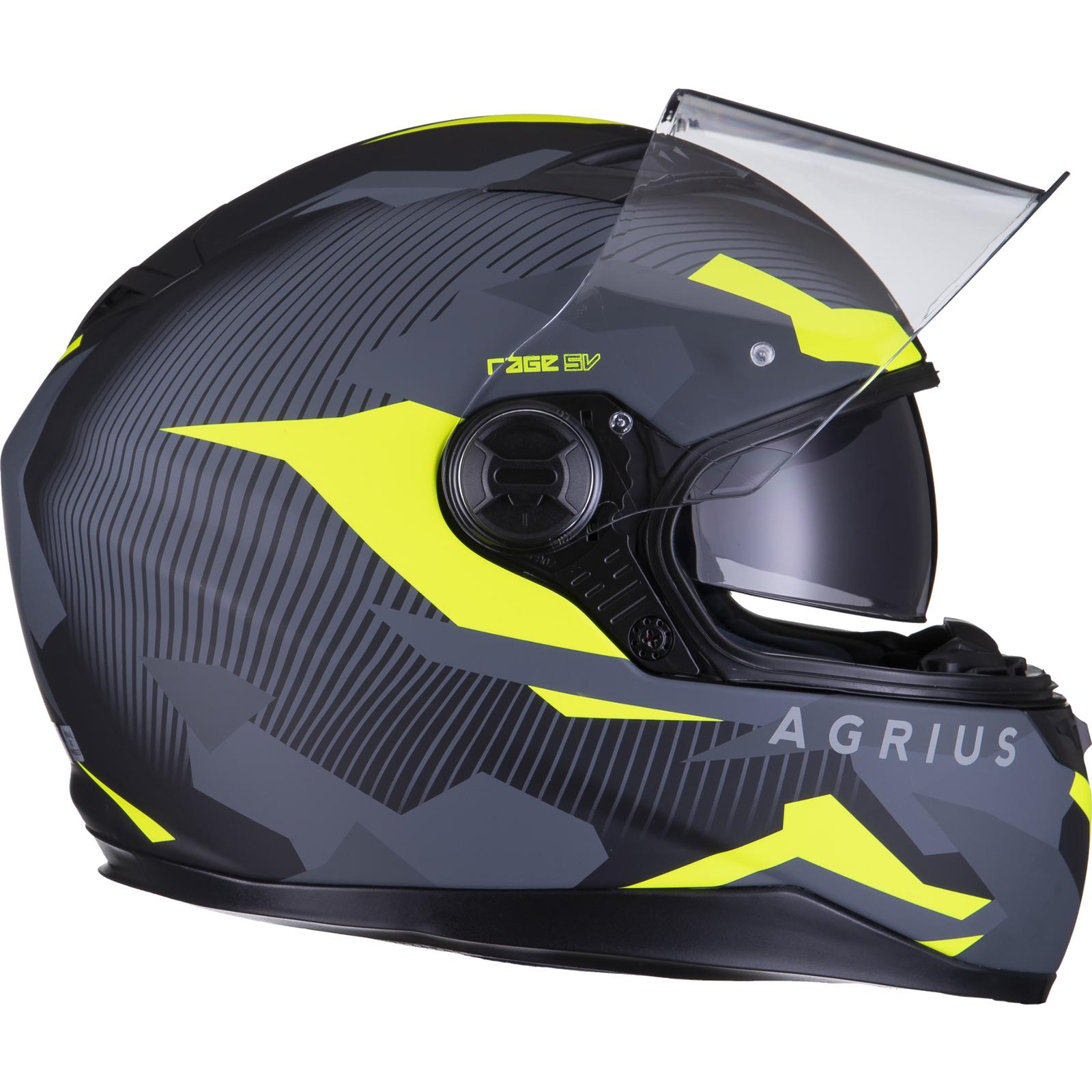 Agrius-Rage-SV-Tracker-Full-Face-Motorcycle-Matt-Helmet-bike-Road-Bike-Scooter thumbnail 45